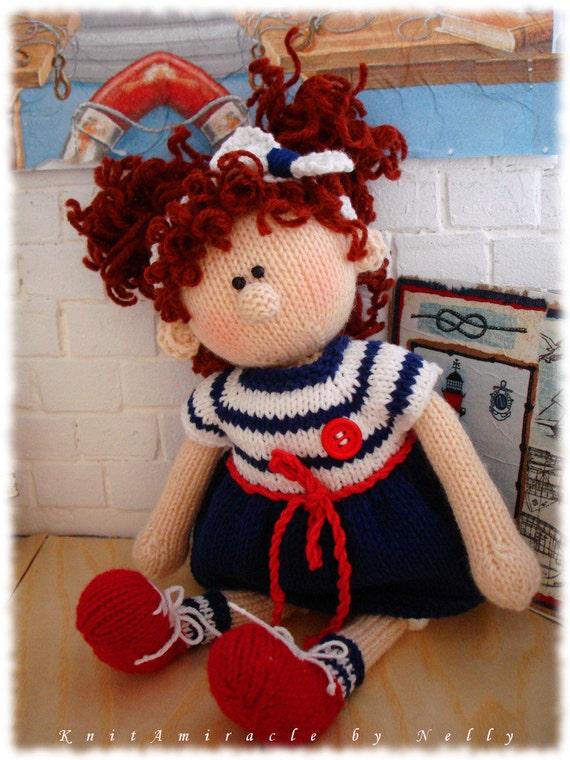Toy Knitting Patterns : Toy Knitting Pattern / knitting pattern doll / doll DIY