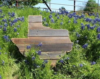Unique Reclaimed Wood State of Texas