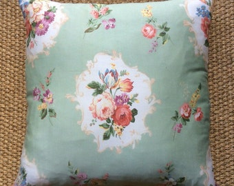 Vintage Floral Bernard Wardle Fabric Cushion 40cmx40cm With Interior