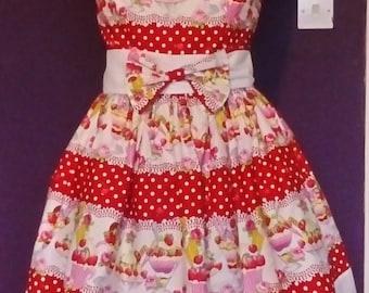 1950's inspired ice cream sundae dress size 16/18