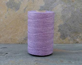 2 Ply Lavender Waxed Irish Linen Thread 10 Yards WIL-24,linen crochet thread,lavender waxed linen,2 ply lavender linen,waxed linen thread