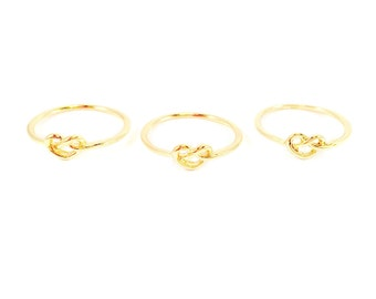 Dainty Gold 'love Knot' Ring