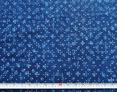 "49"" long fabric remnant Polka dot Indigo mudcloth block print fabric by the yard"