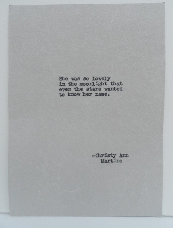 Girlfriend Gift - Gifts for Her Love Quotes Typed by Poet onto Handmade Paper
