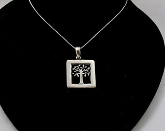 Sterling Silver Necklace, Tree of Life