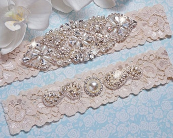 Wedding Garter Set, Wedding Garter, Garter, Ivory Lace Wedding Garter Set, Ivory Bridal Garter Belt, Wedding Lingerie, Style -705