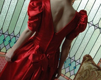 80's Red Bridesmaid Dress/Prom Gown