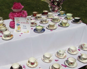 10 Mismatched Vintage Tea Cups for your Alice in Wonderland Mad Tea Party