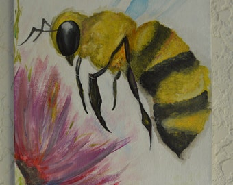 Original honeybee painting