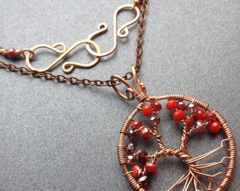 Apple Tree of Life on Copper Chain