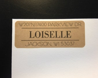 30 Address Labels, Kraft Address Labels, Modern Return Address Labels, Family Address Labels, Everyday Return Address Labels, Kraft Labels