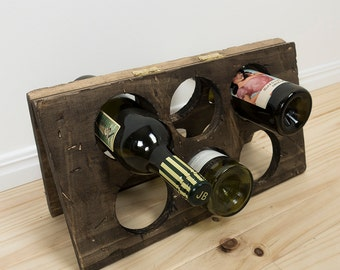 Stained Timber Wine Rack