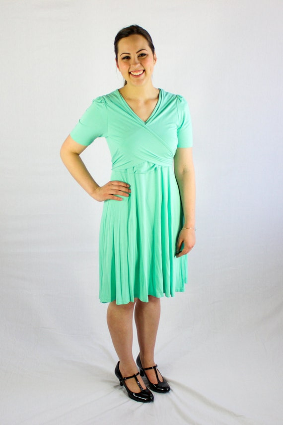 Nursing Dress Mint Green Breastfeeding Clothes