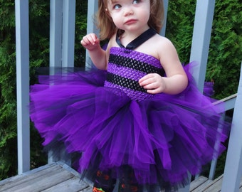 Witch Costume, Witch Outfit, Halloween Costume, Witch Tutu Dress, Halloween Dress, Witch Outfit, Toddler Witch Tutu, Black Purple Dress