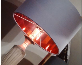 Pewter Grey Copper Lined Mirror Lampshade