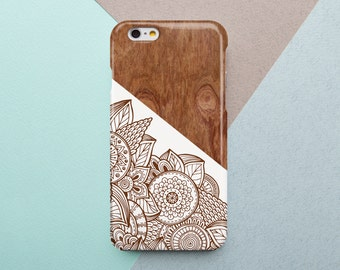 iPhone 6 Plus Case Wood iPhone 6 Case Brown iPhone 5C Cover iPhone 5s Case Floral iPhone 4 Case Boho Samsung Galaxy S6 Edge Case Sister Gift
