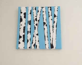 Simple Birch Tree Painting