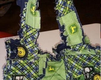 Spring Sale :-) Rag Bag made with John Deere Material