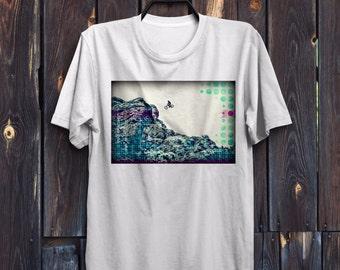 Mountain Bike Shirt, Mens t-shirt, Bike Art, Bicycle TShirt, Cyclist Shirt, boy t-Shirt, BMX shirt, bicycle gifts, Mountain Bike tshirt, bmx