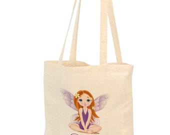 Girls fairy tote bag, Sleepover bag, overnight bag, Personalised bag, book bag, kids fairy, Childs fairy