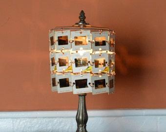 Vintage Photo Slide Lamp, 50's Slide Lamp, Camera Slide Lamp, Photographer Gift, Desk Lamp, Re purposed Lamp, Up Cycled Light, Table Light