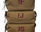 Personalized Toiletry Bag Dopp Kit Canvas Leather Travel Bag Men Groomsmen Gifts