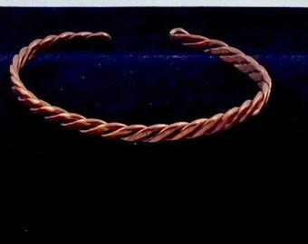Men's Twisted Copper Bracelet