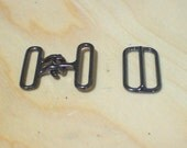 Bow tie hook and eye clasp with slide adjuster (10 sets)