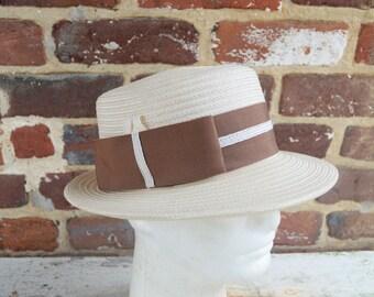 Women's Vintage Straw Fedora Hat