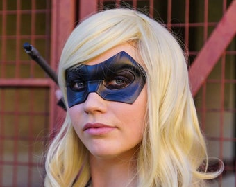 Black Canary Mask Sara Lance Cosplay Leather Mask Arrow Series Tv Show Super Hero Halloween Masquerade Carnival Superheroine Female Heroines