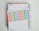 Heart Stickers, Set of 72 Heart Planner Stickers