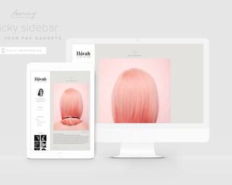 Fashion Blogger Template — Magazine Style Blog Design — Photography Blog Template — Responsive Blogger Theme — Portfolio Template / Havah