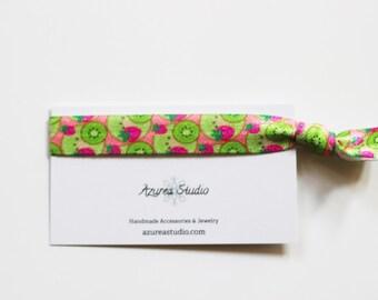 Fruit Strawberry Kiwi Hair Tie