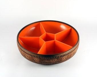 Retro orange Snack bowl EMSA West Germany 1970
