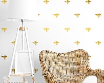 Bee Wall Decal Bumblebee Stickers Home Decor Nursery Wallpaper