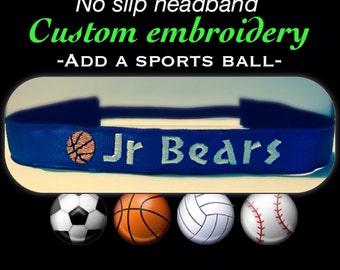 No Slip SPORTS Headband, soccer, softball, volleyball, basketball, baseball