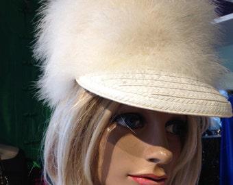 Vintage '70's Pierre Balmain  feather cap