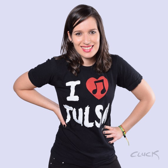 I Heart Tulsa Music Crew Neck T-Shirt by Steve Cluck - Made with Love in Tulsa, Oklahoma - 20% off with the coupon code MIMOSA