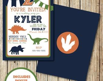 Dinosaur Invitation - Dinosaur Birthday Invitation - Dinosaur Birthday Party - Dinosaur Birthday Party - Dinosaur Decorations - Printable