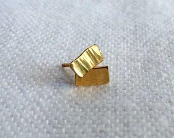 Mother's Day Studs - 14k Gold Stud Earrings - Rectangular Studs - Minimalist Gold Studs
