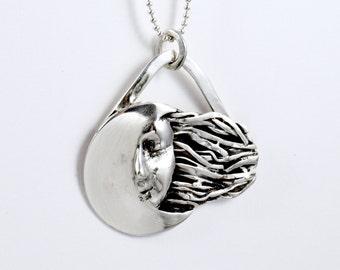Mai Is Like The Moon - Sterling Silver Moon Jewelry Pendant - Moon Woman Empowerment Jewelry - Woman Moon Jewelry - Art Jewelry Pendant-2147