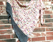 PATTERN Knitted Shawl Pattern Graffiti Shawl Knitting Pattern Knit Triangle Scarf Speckled Yarn DIY Gift Christmas