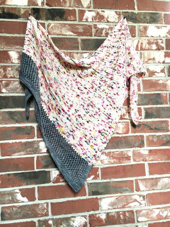 Graffiti Knitting Patterns : Knitted shawl pattern graffiti knitting knit