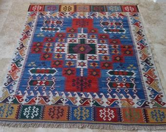 6 by 7 rug / Vintage Oushak Rug / Vintage Rug / Oushak Rug / Vintage Turkish Rug / Nomadic Rug / Area Rug / Boho Rug / Kilim Rug /Tribal Rug