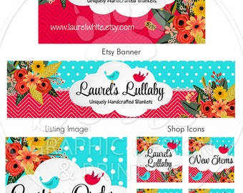 Etsy Shop Banner Set, Custom Shop Banner, Shop Banner and Business Card Design, Etsy Store Graphics, Etsy Cover and Shop Icon
