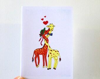Funny birthday card Boyfriend birthday card giraffe Sexy card Boyfriend funny love card Giraffe card Funny card for husband Boyfriend card