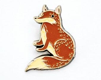 fox enamel pin FOX PIN, hat pins, nerdy pin kawaii pin, pingame pin game, backpack pins, adorable pin, pin badges, fox brooch, fox lapel pin