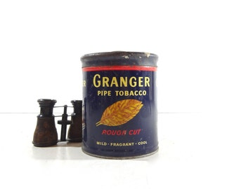 Vintage Granger Tobacco Tin / Rustic Decor