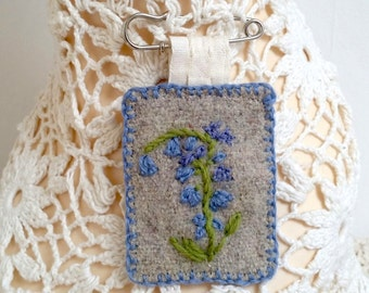 SALE BROOCH- hand embroidered
