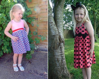 Always Summer Dress and Tunic Knit Pattern in Sizes 2T -8Y, 10 & 12Y by Sew Honey Designs